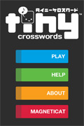 Tiny Crosswords for iPhone, iPod Screenshot Main Screen