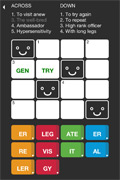 Tiny Crosswords for iPhone, iPod Screenshot 2